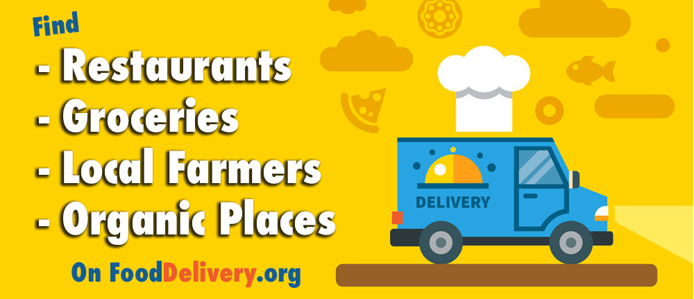 Find all types of food delivery places