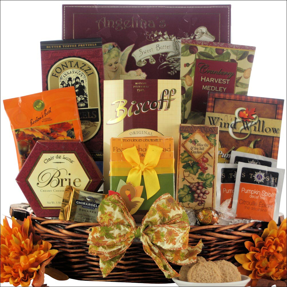 thanksgiving plentiful gift basket