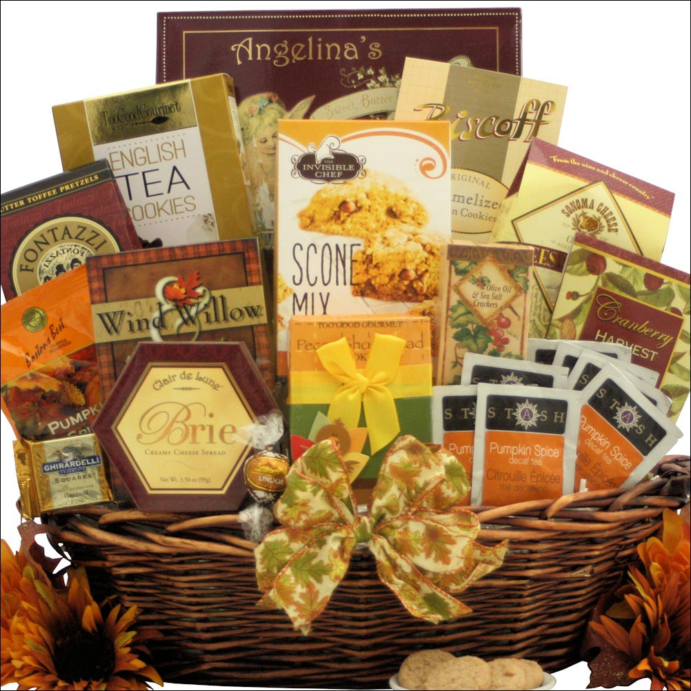 Thanksgiving gift basket for gourmets