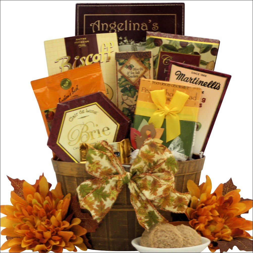 Thanksgiving gourmet wishes gift basket