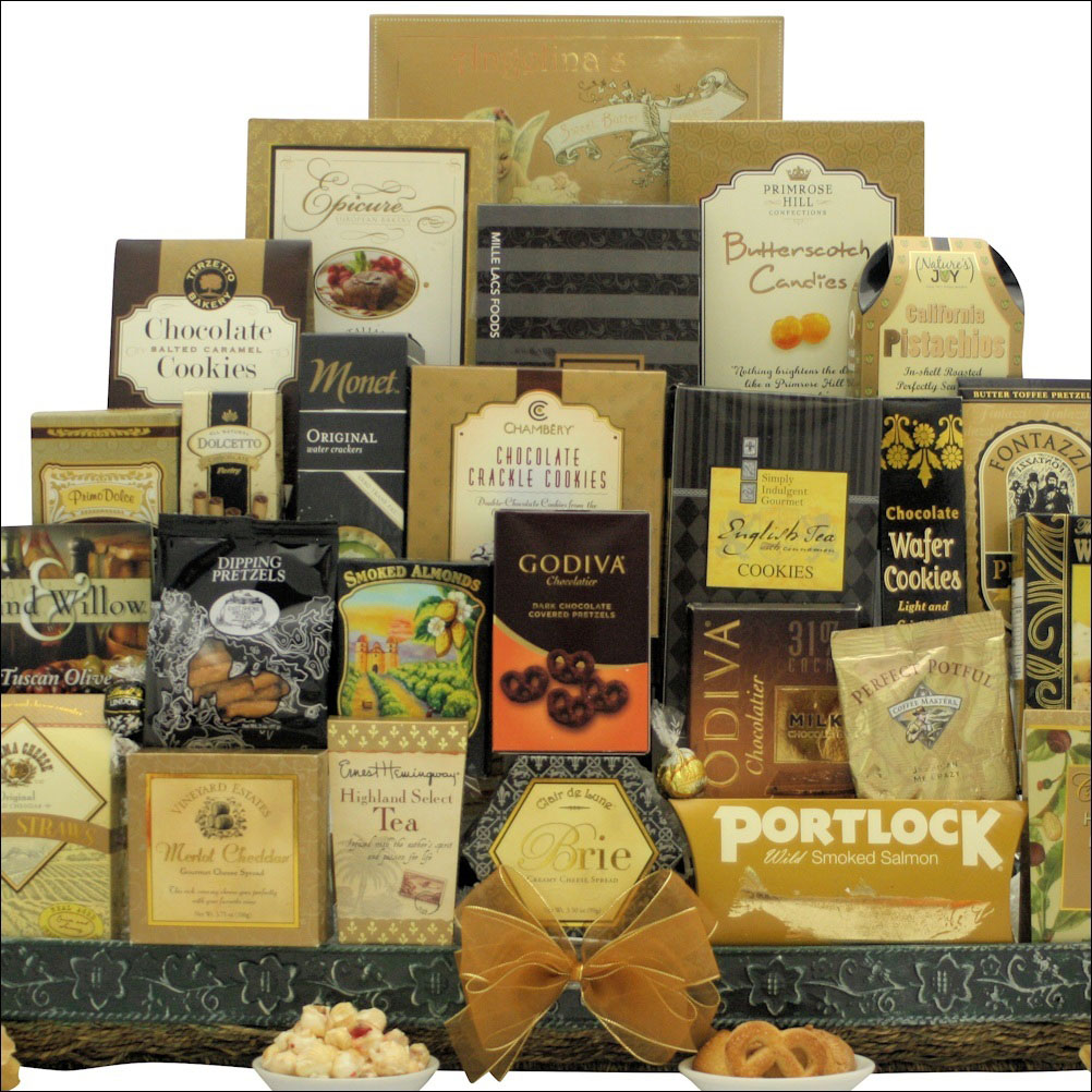 VIP gourmet holiday gift basket