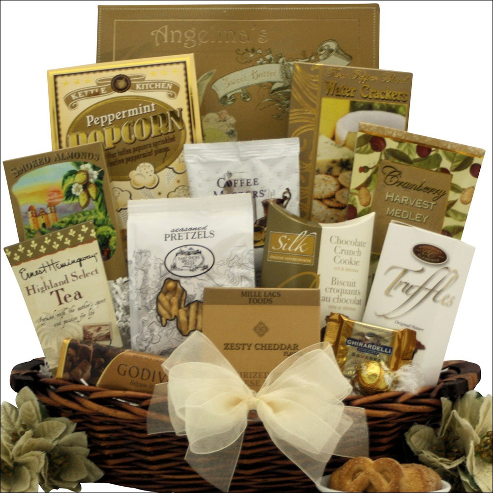 elegance holiday gourmet gift basket