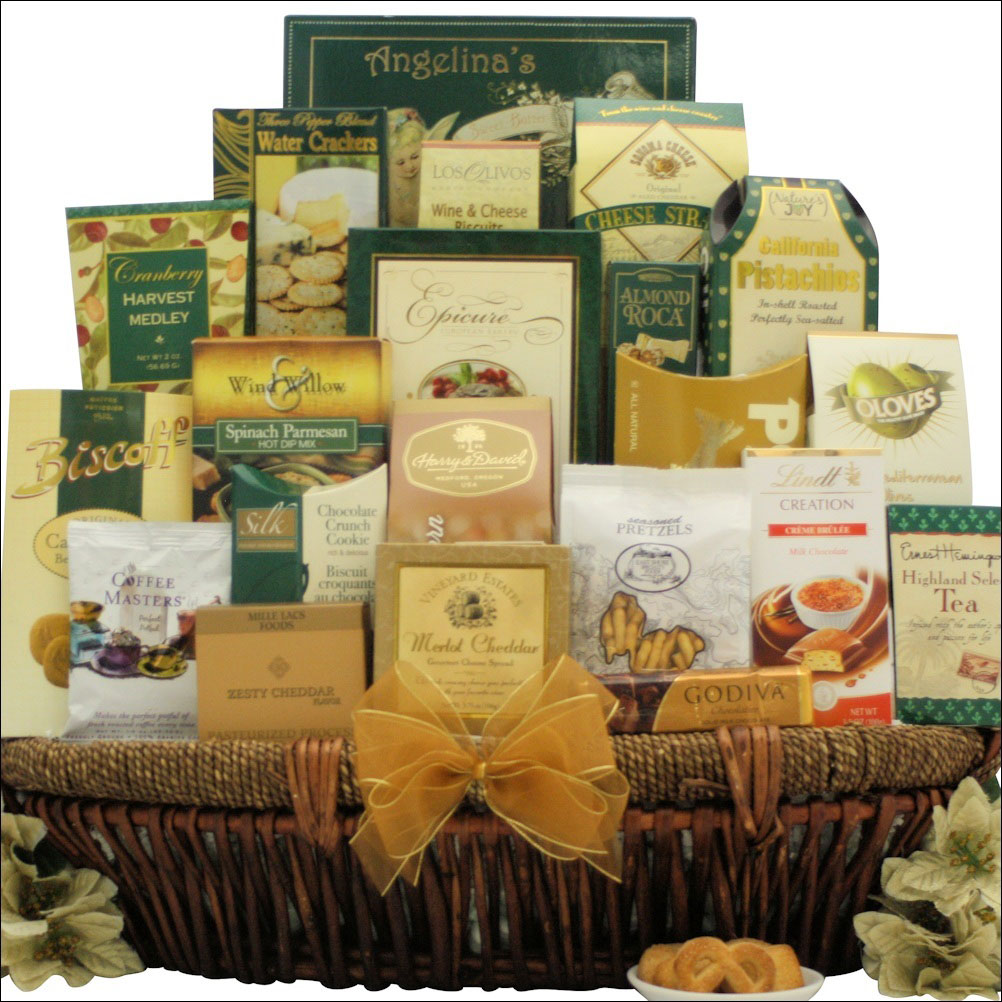 A gallant affair holiday gourmet gift basket