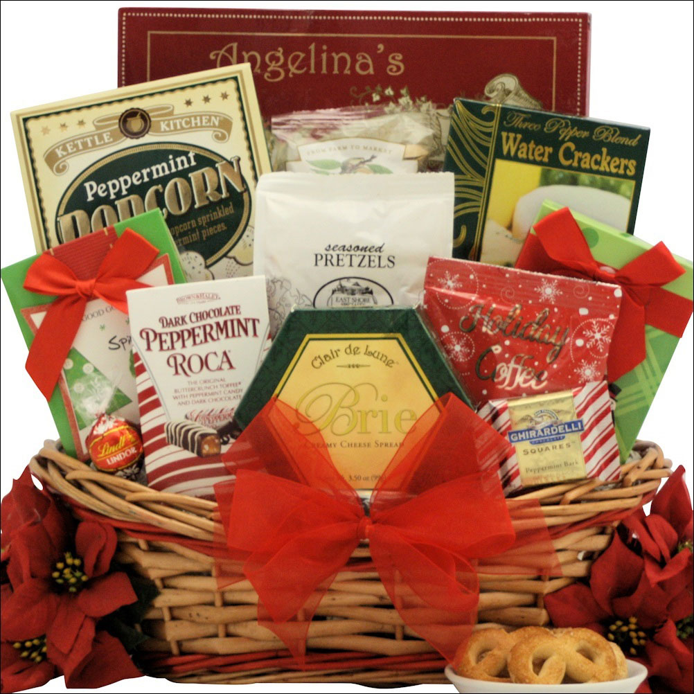 Medium size Christmas gift basket