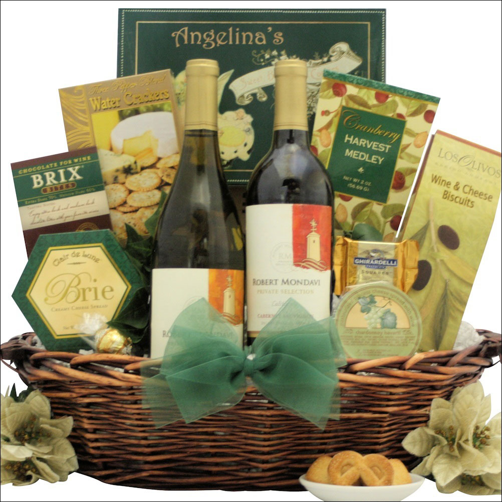 wine gourmet holiday gift basket