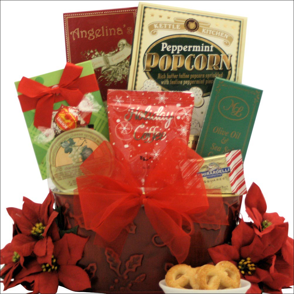 Tidings of joy small gourmet holiday christmas gift basket a small christmas gift basket joy of the holidays negle Image collections