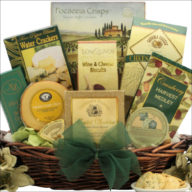 Cheese and Crackers Christmas gift basket