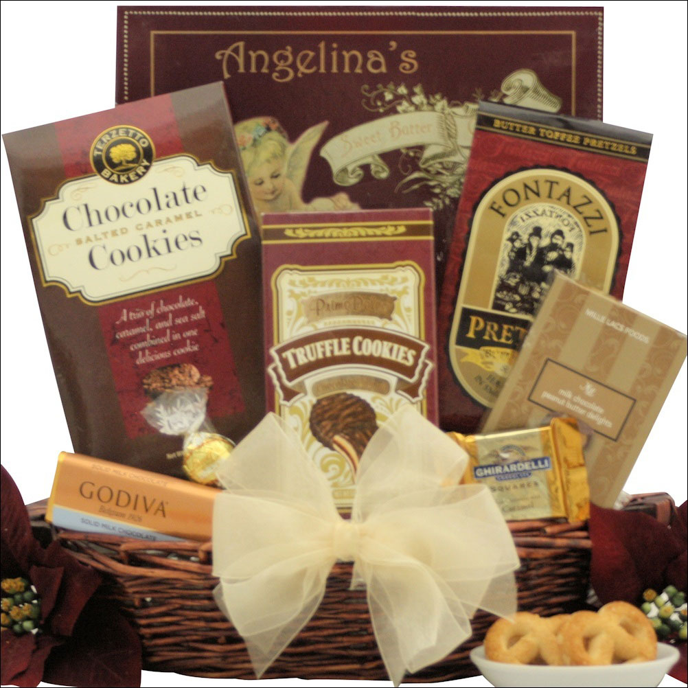 PEACE & PROSPERITY: SMALL CHOCOLATE HOLIDAY CHRISTMAS GIFT BASKET ...